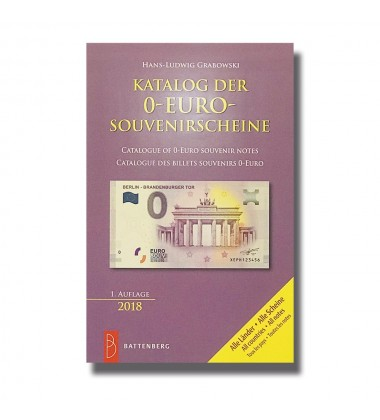 0 Euro Souvenir Catalogue Complete 2018 1st Edition 005104