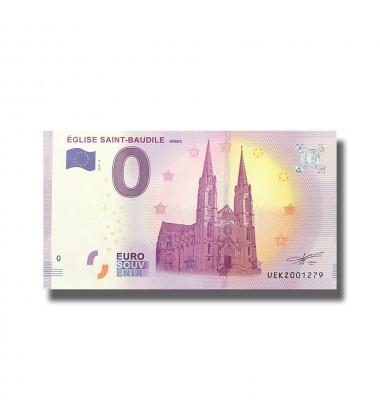 France 2018 Eglise Saint Baudile Nimes 0 Euro Souvenir Banknote 005105