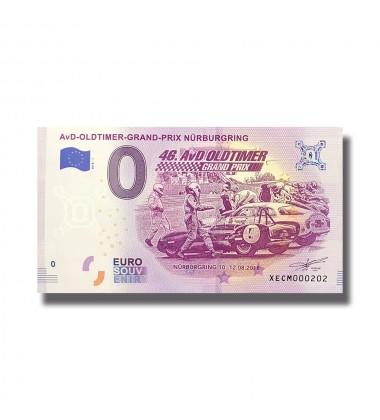 Germany 2018 AVD Oldtimer Grandprix Nürburgring 0 Euro Souvenir Banknote 005109