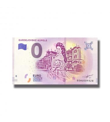 Slovakia 2018 Bardejovske Küpele 0 Euro Souvenir Banknote 005112