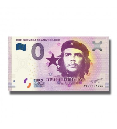 0 EURO SOUVENIR BANKNOTE 2018 SPAIN CHE GUEVARA 005115