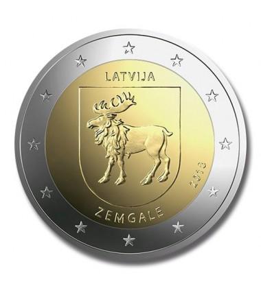 2018 LATVIA ZEMGALE 2 EURO COMMEMORATIVE COIN