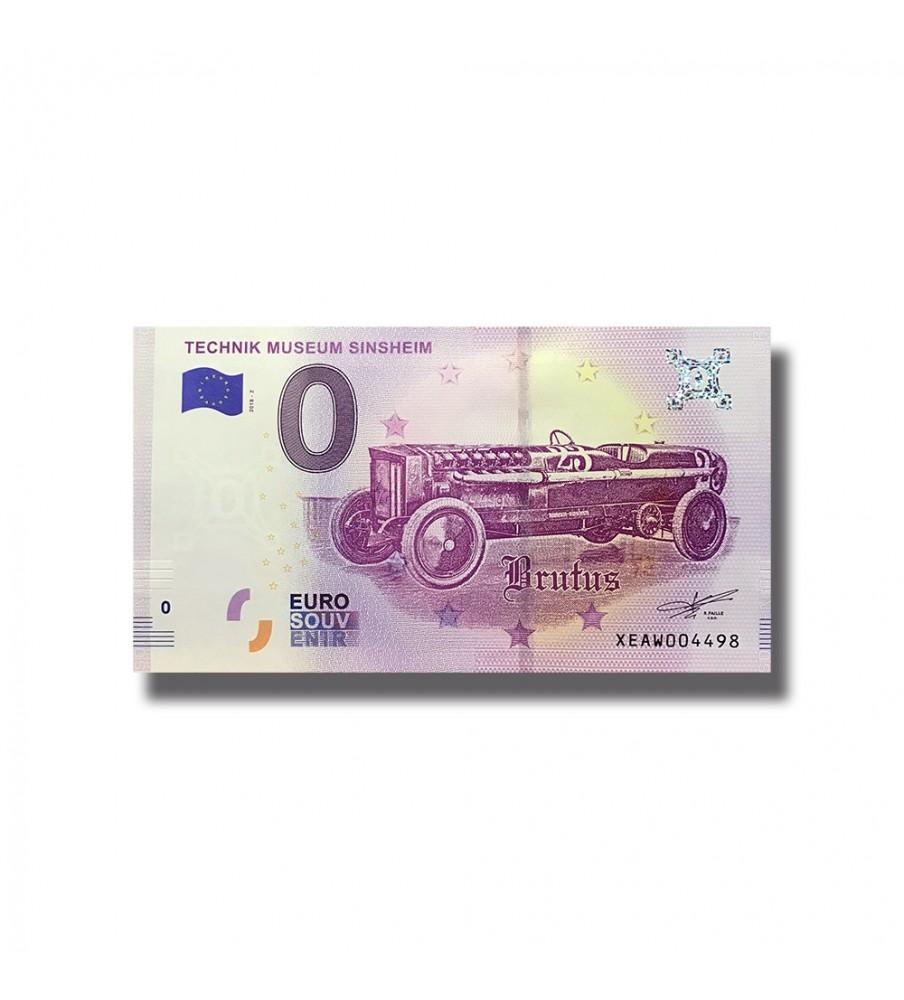 2018 GERMANY TECHNIK MUSEUM SINSHEIM BRUTUS 0 EURO SOUVENIR BANKNOTE 005103