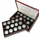 Sovereign Military Order Of Malta 28 Silver Medal Collection
