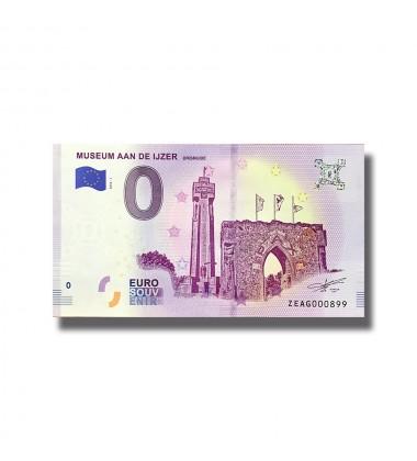0 Euro Souvenir Banknote Belgium 2018 Museum Aan De Ijzer 005129