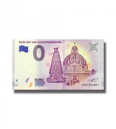 0 Euro Souvenir Banknote Belgium 2018 Basiliek Van Scherpenheuvel 005128