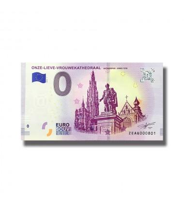 0 Euro Souvenir Banknote Belgium 2018 Onze Lieve Vouwekathedraal  005127