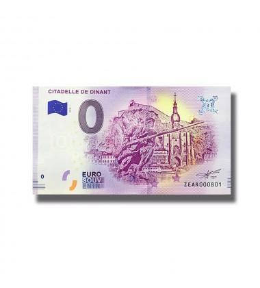 0 Euro Souvenir Banknote Belgium 2018 Citadelle De Dinant 005126