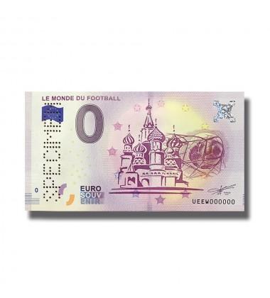 0 Euro Souvenir Banknote  SPECIMEN LE MONDE DU FOOTBALL 2018 FRANCE 005132