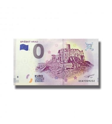 0 EURO SOUVENIR BANKNOTE SPISSKY HRAD 2018 SLOVAKIA 005134