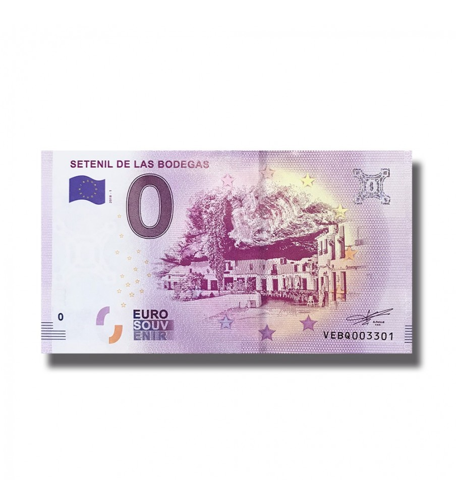 0 Euro Souvenir Banknote Setenil De La Bodegas 2018 Spain 005138