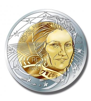 2018 France Simone Veil 2 Euro Commemorative Coin