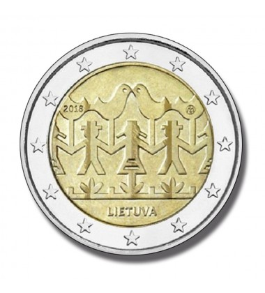 2018 Lithuania Song And Dance Festival 2 Euro Commemorative Coin