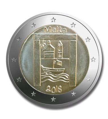 2018 MALTA CULTURAL HERITAGE 2 EURO COMMEMORATIVE COIN