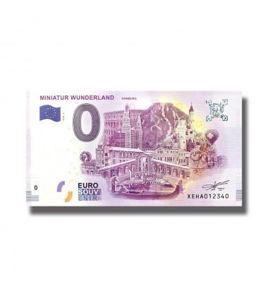 0 EURO SOUVENIR BANKNOTE MINIATUR WUNDERLAND HAMBURG 2018 GERMANY XEHA