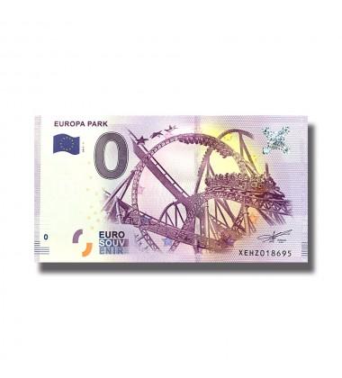 0 EURO SOUVENIR BANKNOTE EUROPA PARK 2017 GERMANY XEHZ