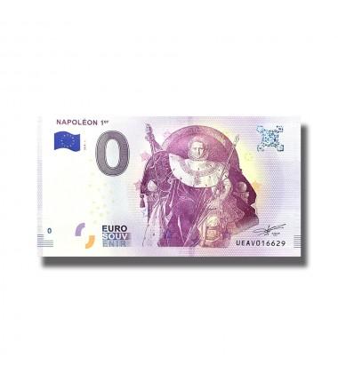 0 EURO SOUVENIR BANKNOTE NAPOLEON 1ER 2018 FRANCE UEAV