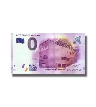 0 EURO SOUVENIR BANKNOTE CITE FRUGES PESSAC 2016 France UEJD