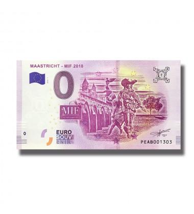 0 EURO SOUVENIR MAASTRICHT - MIF 2018 BANKNOTE