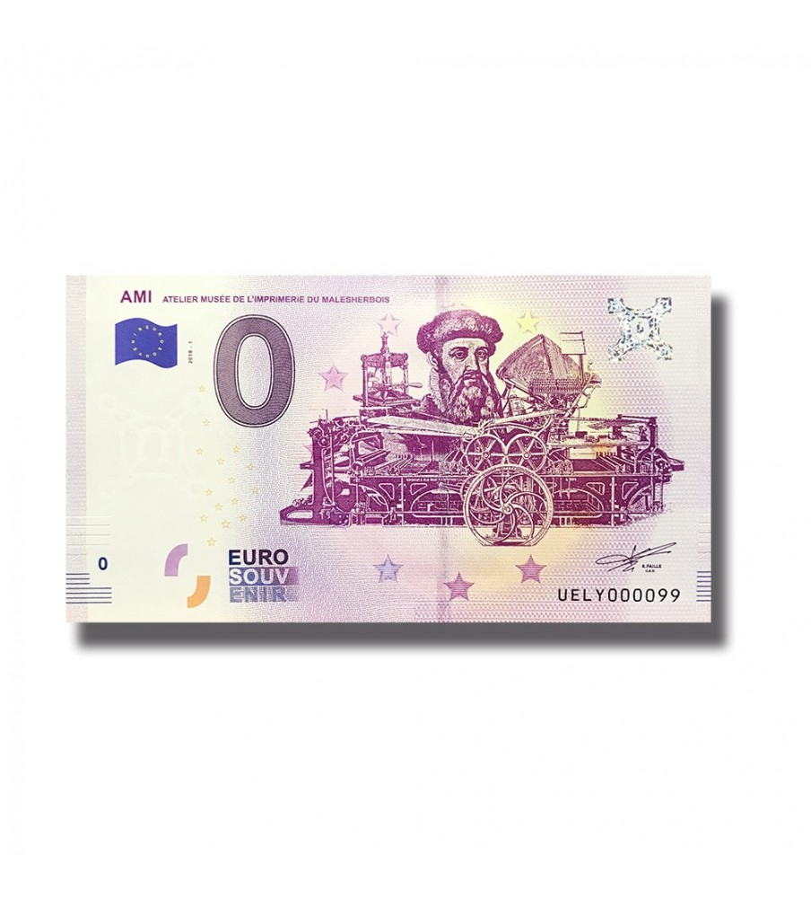 0 EURO SOUVENIR BANKNOTE AMI ATELIER MUSEE FRANCE 2018 UELY