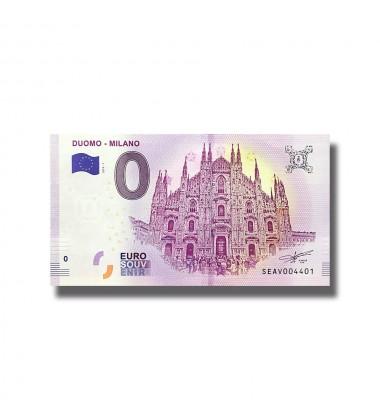 0 EURO SOUVENIR BANKNOTE DUOMO MILANO ITALY 2018 SEAV