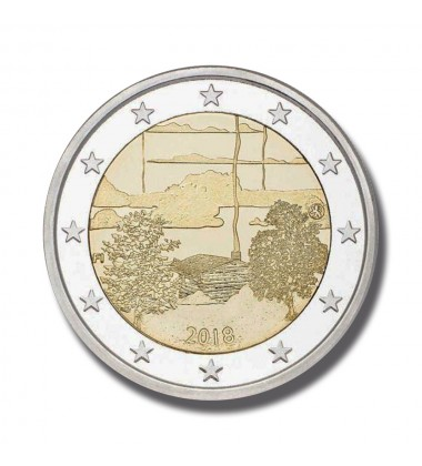 2018 FINLAND SAUNA CULTURE 2 EURO COMMEMORATIVE COIN