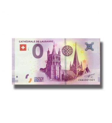 0 EURO SOUVENIR BANKNOTE CATHEDRALE DE LAUSANNE 2018 SWITZERLAND 005326