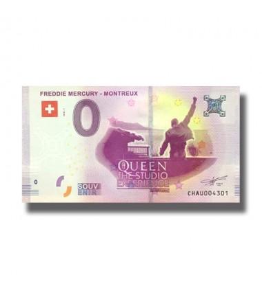 0 EURO SOUVENIR BANKNOTE FREDDIE MERCURY 2018 SWITZERLAND 005324