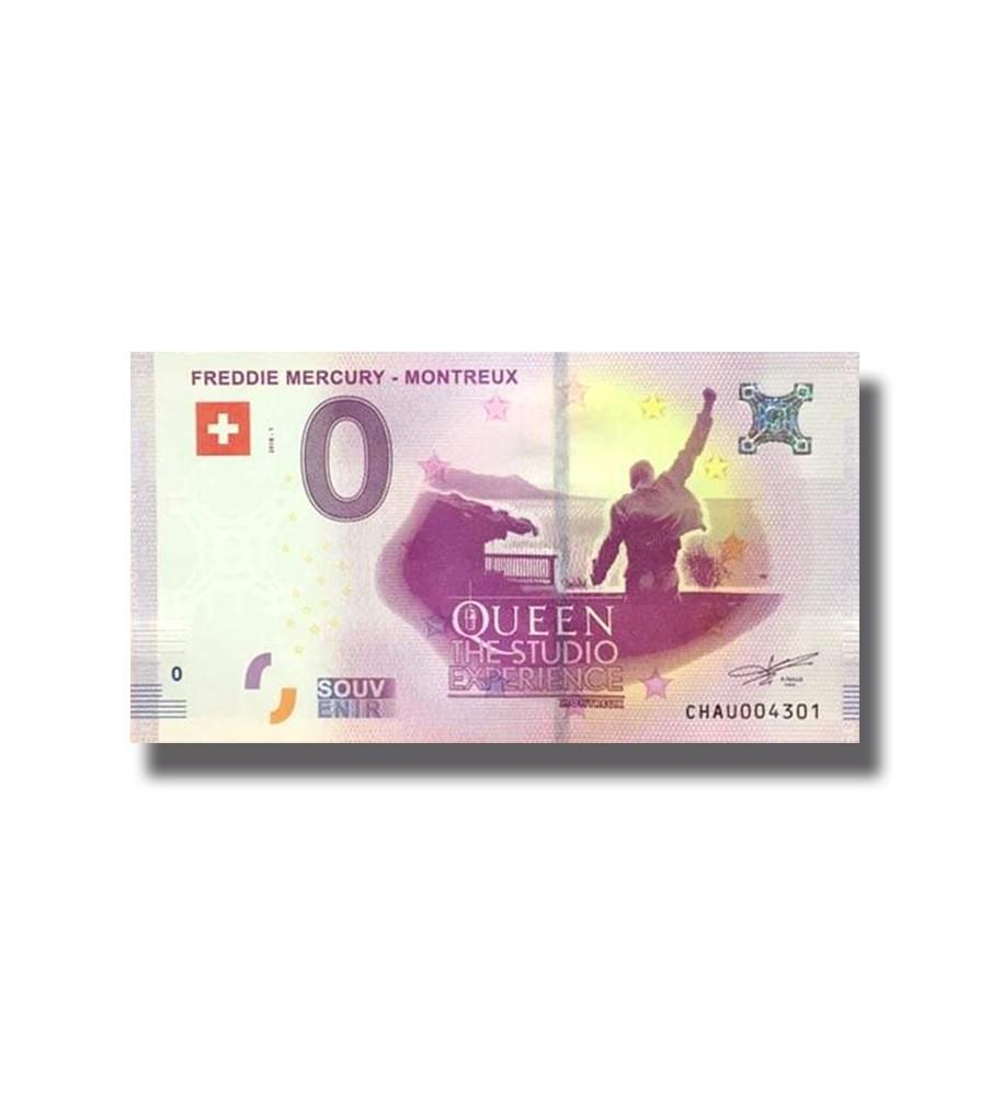 0 EURO SOUVENIR BANKNOTE FREDDIE MERCURY 2018 SWITZERLAND
