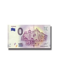 0 EURO SOUVENIR BANKNOTE POPRAD 2018 SLOVAKIA EEBC
