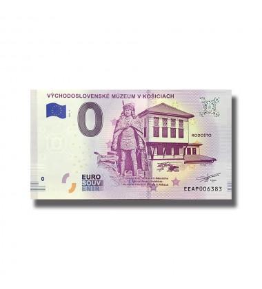 0 EURO SOUVENIR BANKNOTE VYCHODOSLOVENSKE MUZEUM V KOSICIACH 2018 SLOVAKIA EEAP