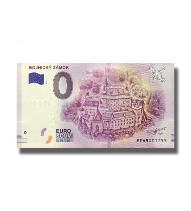 0 EUOR SOUVENIR BANKNOTE BOJNICKY ZAMOK 2018 Czeck