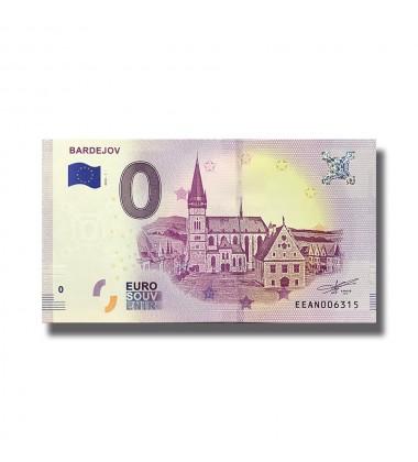 0 EURO SOUVENIR BANKNOTE BARDEJOV 2018 SLOVAKIA EEAN