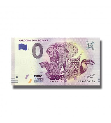 0 EURO SOUVENIR BANKNOTE NARODNA ZOO BOJNICE 2018 SLOVAKIA EEAQ