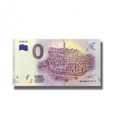 0 EUOR SOUVENIR BANKNOTE PORTO 2018 PORTUGAL