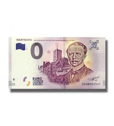 0 EURO SOUVENIR BANKNOTE WARTBURG CARL ALEXANDER 2018 BANKNOTE XEBH