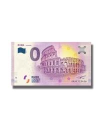 0 Euro Souvenir Banknote Italy Roma Colosseo SEAY