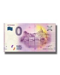 0 Euro Souvenir Banknote Italy Vaticano SEBA