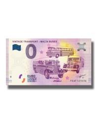 0 Euro Souvenir Banknote Malta Vintage Transport Malta Buses FEAF