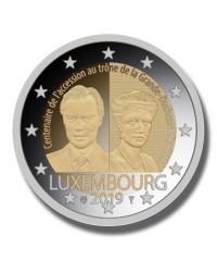 2019 LUXEMBOURG DUCHESS CHARLOTTE 2 EURO COMMEMORATIVE COIN