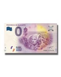 0 EURO SOUVENIR BANKNOTE SPAIN PROVINCIA DE ALICANTE VEBJ