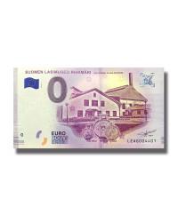 0 EURO SOUVENIR BANKNOTE LASIMUSEO RIIHIMAKI THE FINNISH GLASS MUSEUM 2018 FINLAND LEAG
