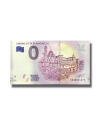 0 EURO SOUVENIR BANKNOTE URBINO CITTA DI RAFFAELLO 2018 ITALY SEAR