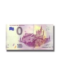 0 EURO SOUVENIR BANKNOTE ALCAZAR DE SEGOVIA 2019 SPAIN VEBA