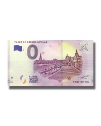 0 EURO SOUVENIR BANKNOTE PLAZA DE ESPANA SEVILLA 2019 SPAIN VEBV