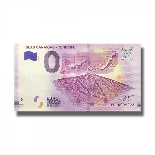 0 EURO SOUVENIR BANKNOTE ISLAS CANARIAS - TENERIFE 2019 SPAIN VECC