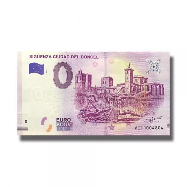 0 EURO SOUVENIR BANKNOTE SIGUENZA CIUDAD DEL DONCEL 2019 SPAIN VECD