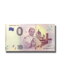 0 EURO SOUVENIR BANKNOTE POPE PAUL VI 2019 GERMANY XEFM