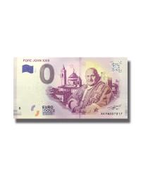 0 EURO SOUVENIR BANKNOTE POPE JOHN XXIII 2019 GERMANY XEFN