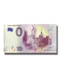 0 EURO SOUVENIR BANKNOTE POPE JOHN PAUL I 2019 GERMANY XEFP
